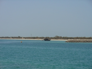 Traditional Dhow in the Gulf.
